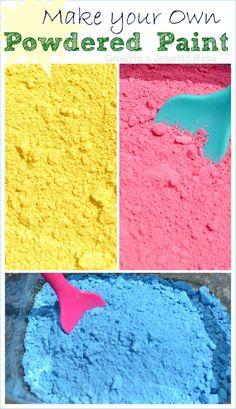homemade powdered paint recipe homemade craft and homemade paint