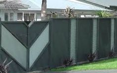 Image result for corrugated and timber fence pics