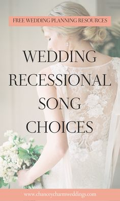 The Best Exit: Wedding Recessional Songs. Chancey Charm is a full service wedding planning & coordination company serving brides across the US, as well as internationally. We also provide quality wedding planner training. Budget Wedding, Wedding Tips, Wedding Planner, Wedding Ceremony, Wedding Checklists, Wedding Blog, Wedding Stuff, Lace Wedding, Reception