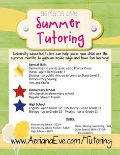 tutor flyer templates free