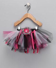 Take a look at this Pink & Black Posh Princess Tutu - Infant, Toddler & Girls by Brookie Jos on #zulily today!