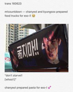 160623 Chanyeol and Kyungsoo prepared food for fans outside Mcountdown. • • ----------------------------- . .  #엑소사랑해 ♥ #EXO #EXOK #EXOL #EXOM #WEAREONE #엑소 #suho #chanyeol #sehun #kyungsoo #kai #baekhyun #kris #lay #tao #luhan #chen #xiumin #WuYiFan [ FOREVER ONE,  FOREVER EXO12 ] «🐶Translator_ByunB🐶»