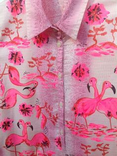 Lovely pink fabric print