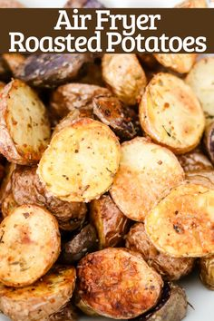 Pickup baby potatoes and grab spices from the pantry to make these delicious crispy Air Fryer Roasted Potatoes! Perfect side dish done in 20 minutes! Baked Baby Potatoes, Potatoes In Oven, Potato Side Dishes, Vegetable Side Dishes, Vegetable Recipes, Baby Potato Recipes, Roasted Potato Recipes, Side Dish Recipes, Healthy Recipes