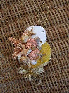 Seashell Sand Dollar & Starfish ornament - Mama Stowes on Etsy