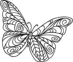 Embroidery Designs at Urban Threads - Doodle Butterfly