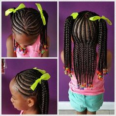 Easy little girl braid style