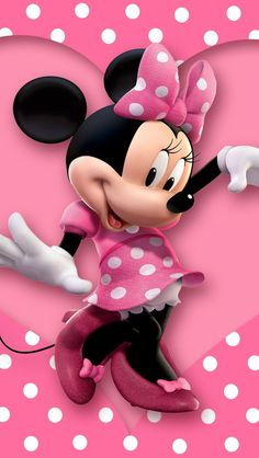 MINNIE MOUSE, IPHONE WALLPAPER BACKGROUND: