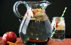 água detox de maça com canela