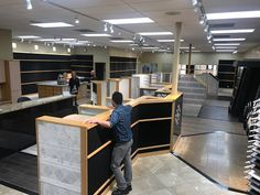 Happy #RemodelMonday! It's our San Marcos, CA Showroom's turn for a long-awaited update! The staff removes all of the display boards to prepare for the contractors. https://arizonatile.com/en/locations/san-marcos