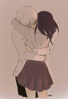 Anime Couples Kaneki x Touka // TouKen - KaneTou - - Cute Couple Drawings, Cute Couple Art, Anime Couples Drawings, Cute Couples, Couple Manga, Anime Love Couple, Anime Couples Hugging, Anime Couples Cuddling, Anime Couples Sleeping