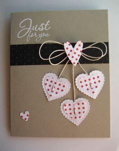 A Valentine Card from Linda Fisher that she cased from Pinterest (LOL!) - http://lindas-stampinloft.blogspot.com/2012/01/cased-from-pinterest.html?utm_source=feedburner&utm_medium=email&utm_campaign=Feed%3A+Lindas-StampinLoft+%28Linda%27s+Stampin+Loft%29