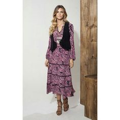 Purple rain: vestido estampa cashmere! #ateen #ateennaturalhype…
