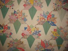 My absolute favorite quilt pattern - Nosegay!  Really showcases a nice collection of prints.
