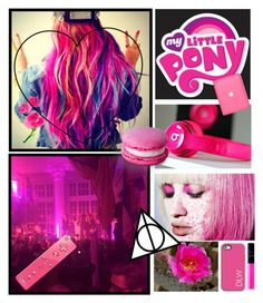 """""""It's pink days"""" by clea69 ❤ liked on Polyvore featuring My Little Pony, L'Agence, Dabney Lee, NARS Cosmetics and Nintendo"""