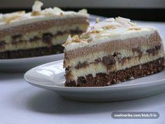 Brownie kokos čokoladna torta. Mhmm… :)))) Sastojci Biskvit-brownie 100g maslaca 2 jaja 100 g šećera 2 i pol pune žlice…  more →