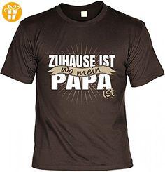 T-Shirt Vater - Zuhause ist wo mein Papa ist - Geschenk Idee Humor zum Vatertag oder Geburtstag - braun, Größe:M (*Partner-Link)