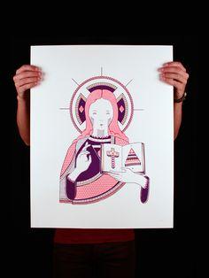 jESUS - screen printing on Behance
