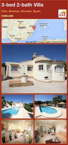 3-bed 2-bath Villa in Villa, Benissa, Alicante, Spain ►€390,000 #PropertyForSaleInSpain