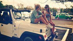 friends, friend, best friends, best friend, white, jeep, jeep wrangler, starbucks
