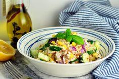 Nízkokalorické, Obedy a večere, Zelenina | fitrecepty.sk Tofu, Cottage Cheese, Pasta Salad, Potato Salad, Salads, Food And Drink, Potatoes, Vegan, Ethnic Recipes