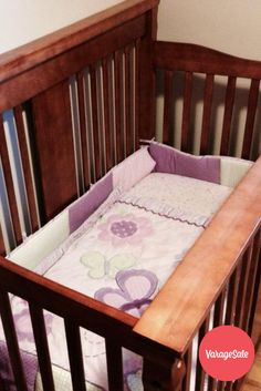 Outift your Nursery with this 3 in 1 crib. Made from solid wood and stained with a dark finish, this excellent crin comes with complete mattress and bedding.Asking $300. Find this and other great deals locally in your community on www.varagesale.com
