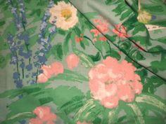 Vintage Warner Cotton Interiors Fabric Painterly 'Mediterranean Garden' Greeff   eBay