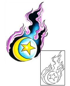Show details for Moon Tattoo Astronomy tattoo | G1F-01226