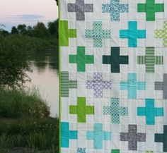 Plus signs quilt from Cluck cluck sew-makes me miss quilting