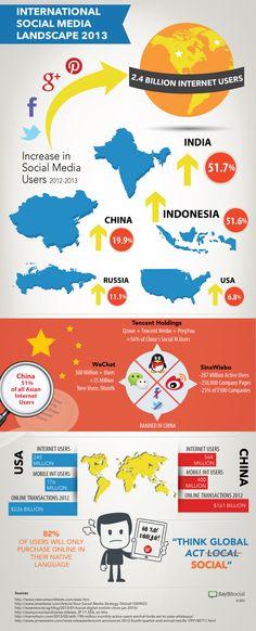 International Social Media Landscape 2013 #infographic