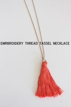 Embroidery Thread Tassel Necklace DIY