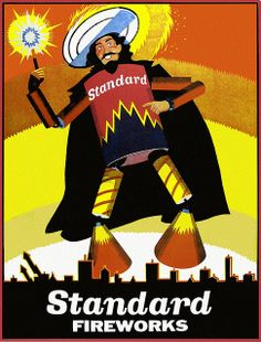 Standard Fireworks poster - Guy Fawkes