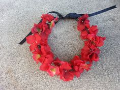 Red Floral Headband/ Flower Crown. Coachella or by DevineBlooms, $13.00
