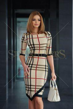 LaDonna Perfect Square Cream Dress