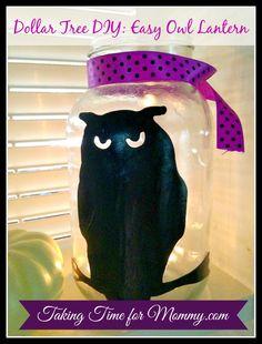 Dollar Tree DIY Craft : Easy Owl Lantern