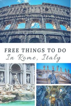 11 Fun and Free Things To Do In Rome, Italy | Guide on things to see and do in Rome for free | Rome on a budget | Budget Travel Tips #rome #italy #budgettravel #traveltips #travel #traveller