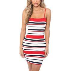 b8fe0cdea955 Striped Bodycon Beach Dress  Spaghetti Strap Backless Short Dress  Fit  Dress in Abstract Stripes