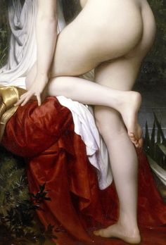 Woman bathing  William Adolphe Bouguereau 1864 (Detail)