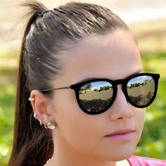 670 melhores imagens de Óculos de sol   Girl glasses, Sunglasses e ... 52b9d6b8d4