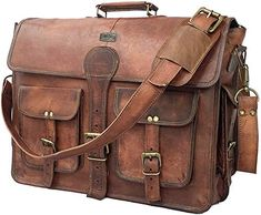 cuero DHK 18 Inch Vintage Handmade Leather Messenger Bag for Laptop Briefcase Best Computer Satchel School Distressed Bag inch) Vintage Leather Messenger Bag, Leather Camera Bag, Leather Laptop Bag, Leather Briefcase, Leather Crossbody Bag, Leather Bags, Leather Backpacks, Canvas Leather, Real Leather