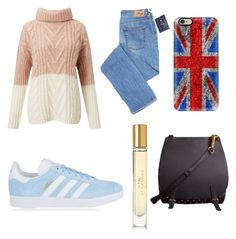 """""""Untitled #49"""" by laylakolo on Polyvore featuring Burberry, adidas Originals, Miss Selfridge and Casetify"""
