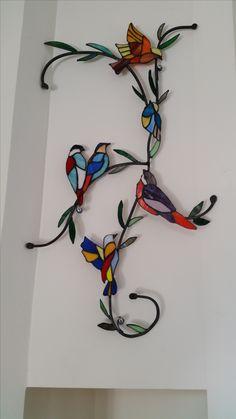 ציפורים מזכוכית stained glass birds