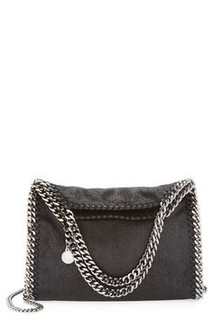 STELLA MCCARTNEY 'Mini Falabella - Shaggy Deer' Faux Leather Tote. #stellamccartney #bags #shoulder bags #hand bags #leather #tote #lining