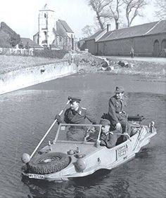 A VW Type 166 schwimmwagen being put to the test in France 1940.