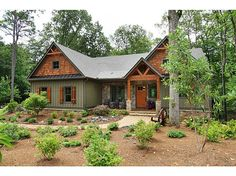 Mountain Home Exterior Paint Colors Mountain Home Exterior Paint Colors Best Of House Paint Color Guide Photos Cottage Exterior Colors, Green Exterior Paints, Best Exterior House Paint, Green Siding, Mountain Home Exterior, Rustic Houses Exterior, Modern Exterior, Mountain Homes, Exterior Shutters