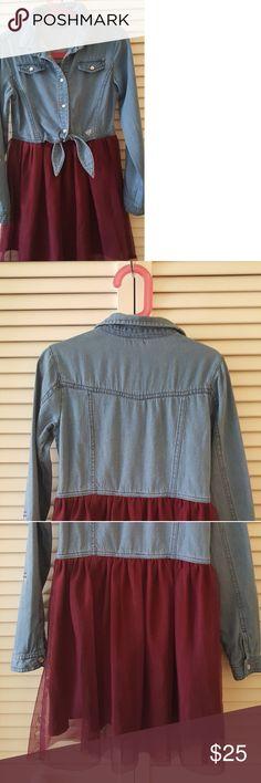 Dress Jean dress/maroon skirt Guess Dresses Casual