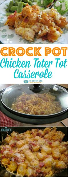 Pot Cheesy Chicken Tater Tot Casserole By This is very delicious, you will like it very much!Crock Pot Cheesy Chicken Tater Tot Casserole By This is very delicious, you will like it very much! Crockpot Dishes, Crock Pot Cooking, Healthy Crockpot Recipes, Slow Cooker Recipes, Cooking Time, Crock Pots, Casserole Recipes Crockpot, Steak Recipes, Crockpot Recipes For Chicken