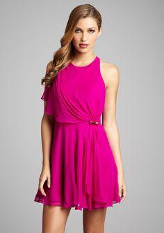 Hoaglund New York  Drape Front Chiffon Dress