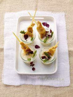 Aspergesoep met kippenspiesjes - Recepten - Culinair - KnackWeekend Mobile