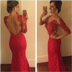 @machado_paola linda, linda, linda!  #longdress #reddress #bybarbaramelo  1400,00